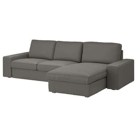 chaise salon ikea kivik 3 seat sofa with chaise longue borred grey green ikea