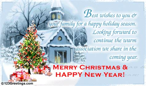 happy holiday season business ecards