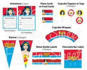 Wonder Woman Party Printables