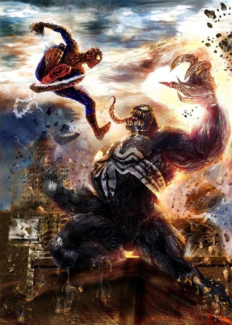 spectacular spider man  venom fanart images