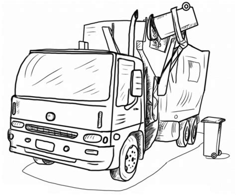 garbage trucks coloring pages coloring home