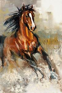 Horse Painting, Horse Art, The Stallion Hand Embellished ...