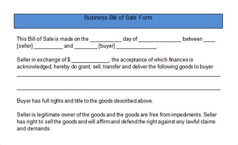 18090 business bill of form 6 sle business bill of form sle templates