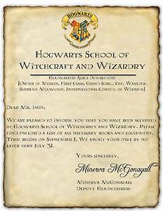 hogwarts acceptance letter template cyberuse With hogwarts school of witchcraft and wizardry letter