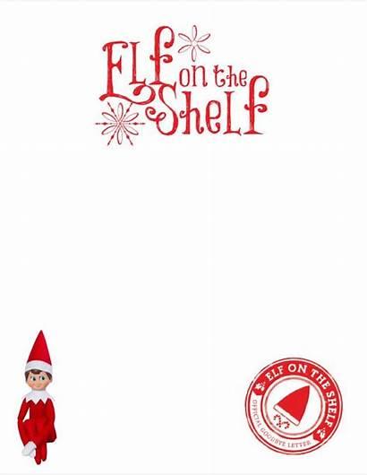 Elf Shelf Letter Template Christmas Printable Letterhead