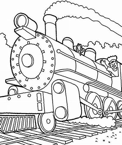 Train Steam Coloring Engine Pages Machinist Drawing