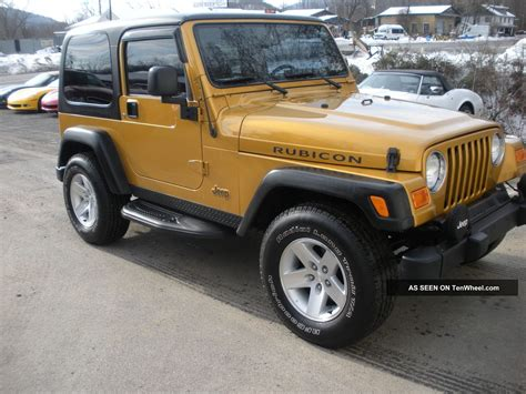 jeep convertible black 2003 jeep wrangler rubicon 4x4 hard top 2 door sport
