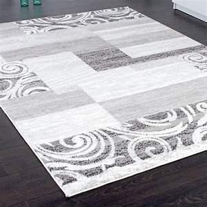Teppich Shabby Chic : designer teppich wohnzimmer teppich kurzflor muster in grau creme preishammer ebay ~ Buech-reservation.com Haus und Dekorationen