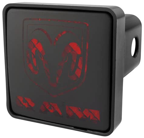 lighted hitch cover dodge brake light trailer hitch receiver cover for 2