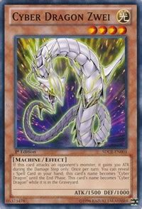 cyber dragon zwei structure deck cyber dragon