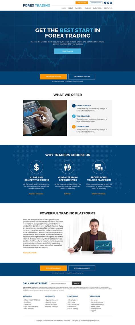 start forex trading sign  website design  preview