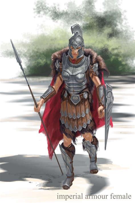 Imperial Armor Female Concept Art From The Elder Scrolls V