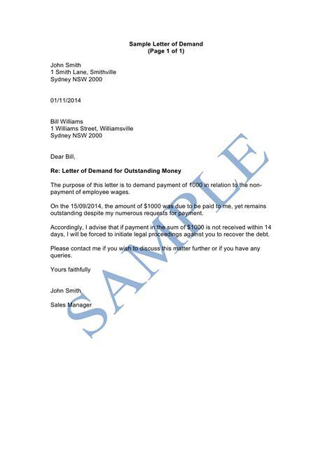 letter of demand letter of demand sle lawpath