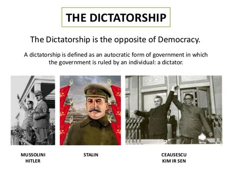 Opposite Meaning Of Resumed by History Year 9 Dictatorship