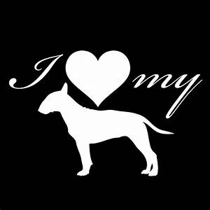 i love my bull terrier dog silhouette heart vinyl sticker With kitchen colors with white cabinets with red bull helmet stickers