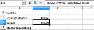 Varianz Berechnen Formel : portfolio berechnungen mit openoffice calc aktienstrategien ~ Themetempest.com Abrechnung