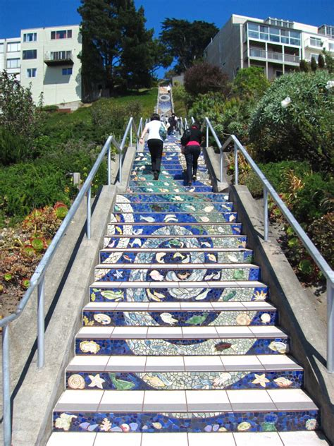 16th avenue tiled steps in san francisco san francisco the 16th avenue tiled steps project