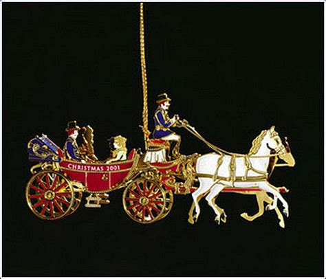 2001 the white house historical christmas ornament