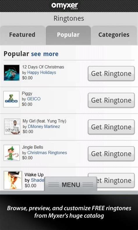 myxer iphone myxer ringtones reviews images frompo 1