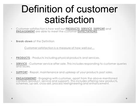 Define Customer what is customer satisfaction definition meaning