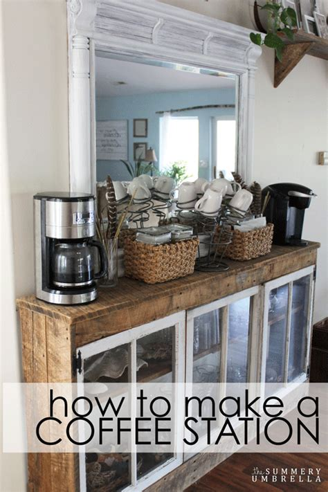 How To Make A Bar by How To Make A Coffee Station Out Of A Dresser Mirror Diy