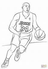 Angeles Los Coloring Lakers Getcolorings sketch template