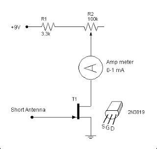 Simple Electro Meter Circuit Electronic Circuits Diagram