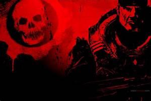 Dibujo De Gears Of War En Rojos 224