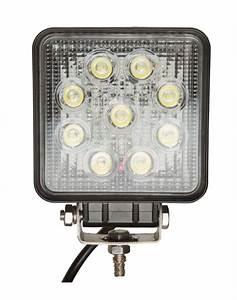 projecteur led carre noir 27w exterieur ip67 With carrelage adhesif salle de bain avec projecteur led ip67