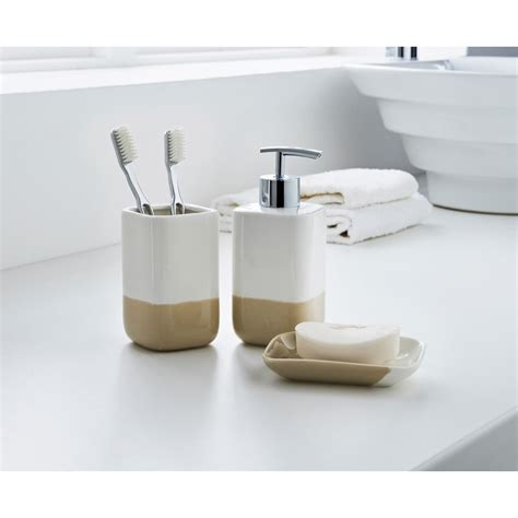 dipped coloured bathroom set 3pc home bathroom b m