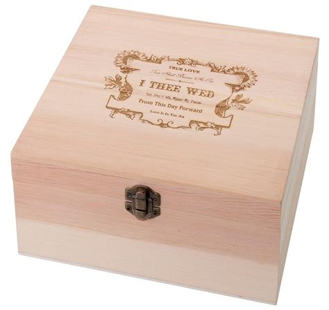 true love wooden card box