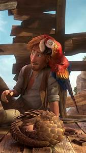 Wallpaper, Robinson, Crusoe, Parrot, Goat, Hedgehog, Best, Animation, Movies, Cartoon, Movies, 8885