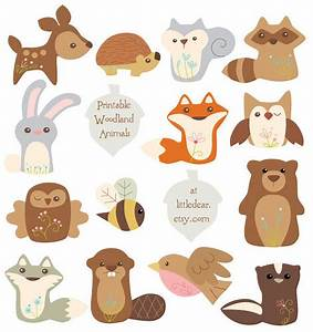Printable Woodland Animals by Aimee Ray. These cuties are ...