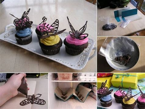 chocolate butterfly cake decorations  home design