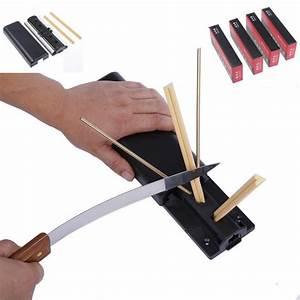 Professional Kitchen Ceramic Knife Sharpener System Fix Angle 4 Stones English Manual