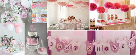 deco baby shower fille th 232 me couleur d 233 coration baby shower