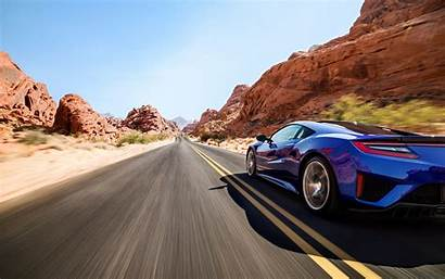 Road Nsx Desert Acura Sports Motion Blur