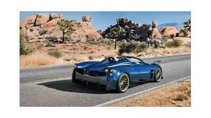 Pagani Huayra Roadster Rear Quarter Three Cars