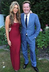 Piers Morgan poses with new wife Celia Walden at their ...