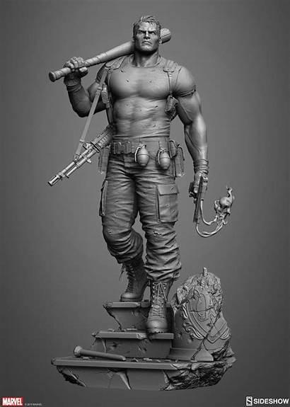 Zbrush Punisher Sideshow Artstation Marco Plouffe Figure