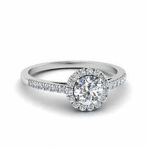 Affordable halo engagement rings fascinating diamonds for Halo engagement rings with wedding bands