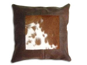 Cowhide Pillow Cover by New Leather Cowhide Pillow Cover Hair On Cushion 16x16 Ebay