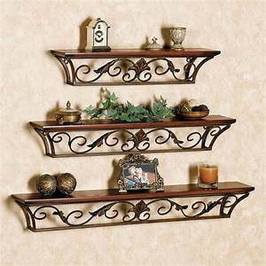 Decorative modern wall shelves recycled things for What kind of paint to use on kitchen cabinets for metal wall art mirrors