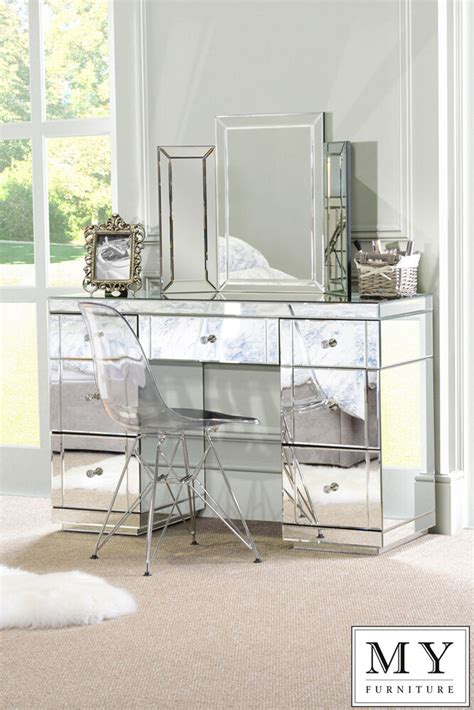 mirror tables large mirrored furniture dressing console table desk from
