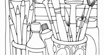 Coloring Supplies Pages Printable Science Early Variety