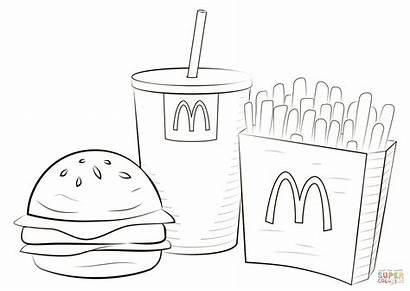 Mcdonalds Mcdonald Coloring Jedzenie Colorear Printable Dibujos