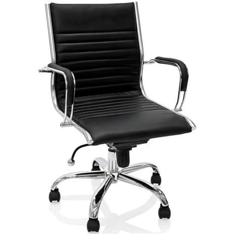 fauteuil de bureau en cuir noir et m 233 tal chrom 233