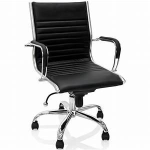 Fauteuil De Bureau Cuir : fauteuil de bureau en cuir noir et m tal chrom ~ Teatrodelosmanantiales.com Idées de Décoration