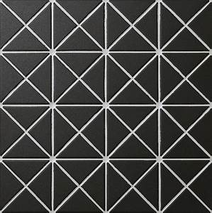 Free Shipping 2'' Pure Black Unglazed Porcelain Triangle ...