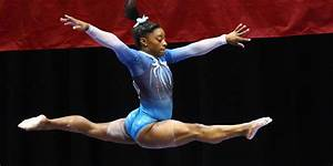 Olympic gymnasts Simone Biles and Gabby Douglas - Business ...  Gymnastics